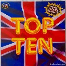 Discos de vinilo: TOP TEN. LIPS KISS. LOCOMIA. RAUL ORELLANA. CAPELLA... LP + MAXI.. Lote 210431323