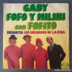 Discos de vinilo: VINILO EP GABY FOFO Y MILIKI CON FOFITO. Lote 210438456