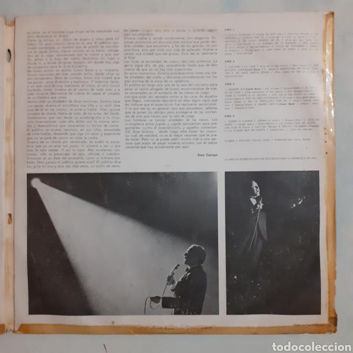 Discos de vinilo: Sinatra en el Sands. 2LP. Gatefold. 1966 España. 2FS 1019. Discos VG+. VG+. Carátula muy defectuosa. - Foto 4 - 210442566