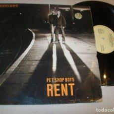 Discos de vinilo: PET SHOP BOYS - RENT... MAXISINGLE DE 1987 - EXTENDED MIX .. Lote 210448465