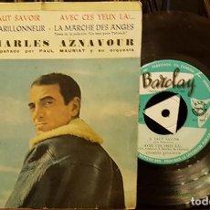 Disques de vinyle: CHARLES AZNAVOUR - FAUT SAVOIR - CON LA ORQUESTA DE PAUL MAURIAT. Lote 210451465