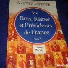 Discos de vinilo: DICCIONARIO DE LOS REYES Y PRESIDENTES DE FRANCIA EN FRANCES. Lote 210451863