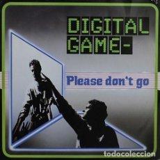 Discos de vinilo: DIGITAL GAME – PLEASE DON'T GO - MAXI-SINGLE BLANCO Y NEGRO SPAIN 1985. Lote 210461697