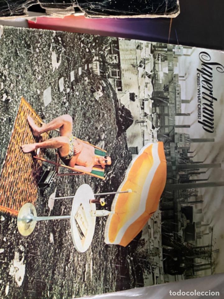 Discos de vinilo: LOTE LP ANTIGUOS SUPERTRAMP CRISIS? CRIME CENTURY FAMOUS LAST WORDS - Foto 2 - 210461750