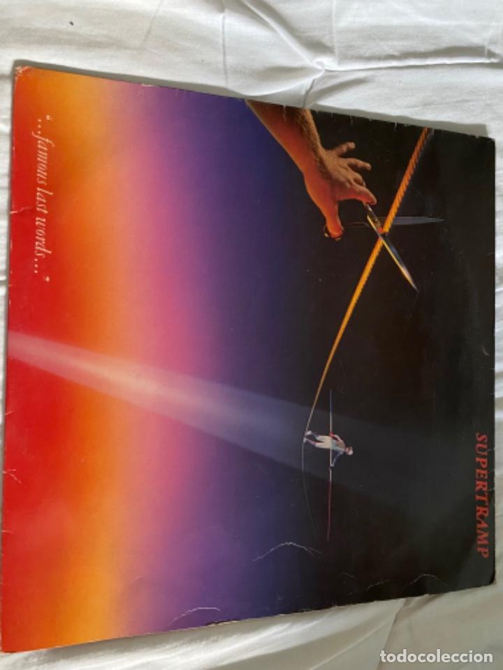 Discos de vinilo: LOTE LP ANTIGUOS SUPERTRAMP CRISIS? CRIME CENTURY FAMOUS LAST WORDS - Foto 4 - 210461750
