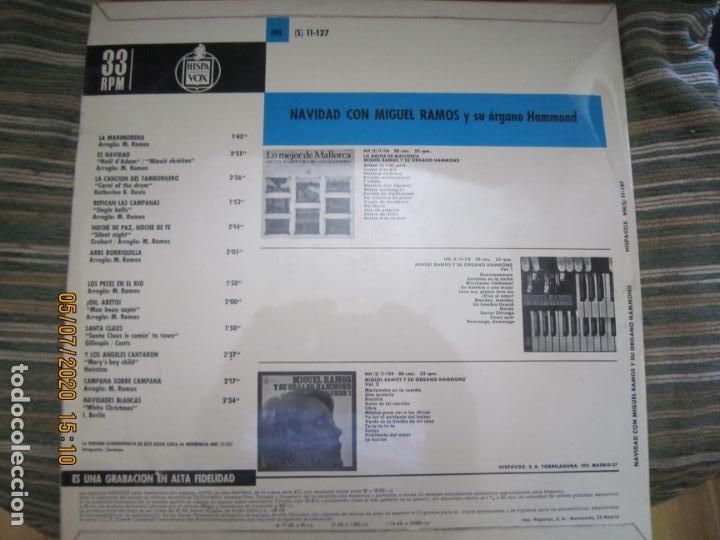 Discos de vinilo: MIGUEL RAMOS Y SU ORGANO HAMMOND - NAVIDAD LP - ESPAÑA - HISPAVOX 1967 STEREO - Foto 2 - 210465935