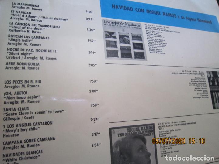 Discos de vinilo: MIGUEL RAMOS Y SU ORGANO HAMMOND - NAVIDAD LP - ESPAÑA - HISPAVOX 1967 STEREO - Foto 3 - 210465935
