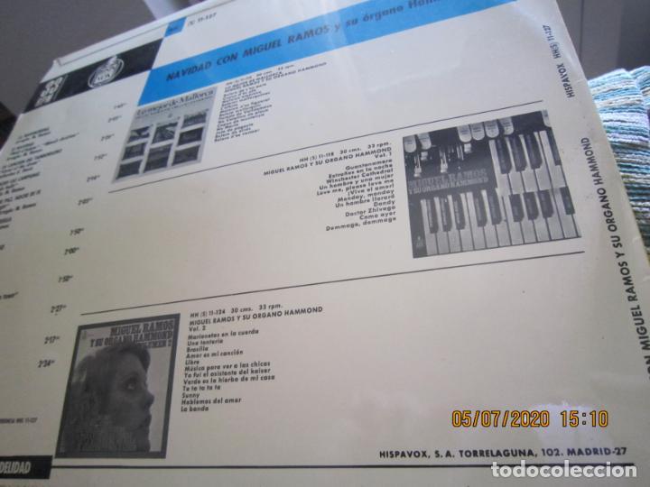 Discos de vinilo: MIGUEL RAMOS Y SU ORGANO HAMMOND - NAVIDAD LP - ESPAÑA - HISPAVOX 1967 STEREO - Foto 4 - 210465935