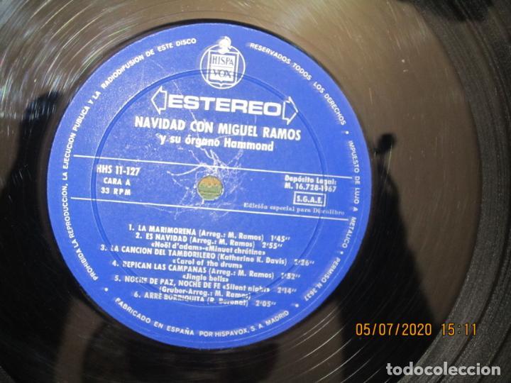 Discos de vinilo: MIGUEL RAMOS Y SU ORGANO HAMMOND - NAVIDAD LP - ESPAÑA - HISPAVOX 1967 STEREO - Foto 8 - 210465935