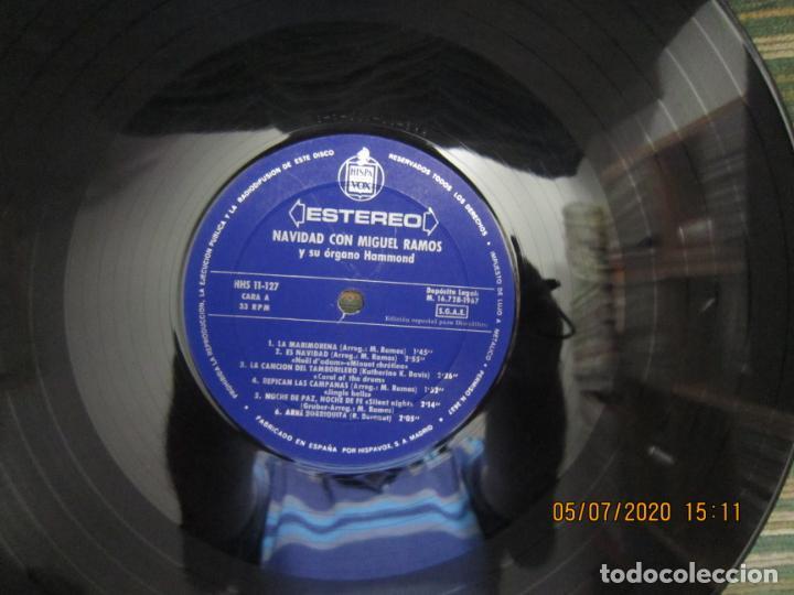 Discos de vinilo: MIGUEL RAMOS Y SU ORGANO HAMMOND - NAVIDAD LP - ESPAÑA - HISPAVOX 1967 STEREO - Foto 9 - 210465935