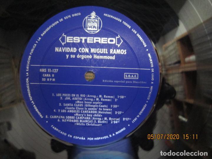 Discos de vinilo: MIGUEL RAMOS Y SU ORGANO HAMMOND - NAVIDAD LP - ESPAÑA - HISPAVOX 1967 STEREO - Foto 11 - 210465935