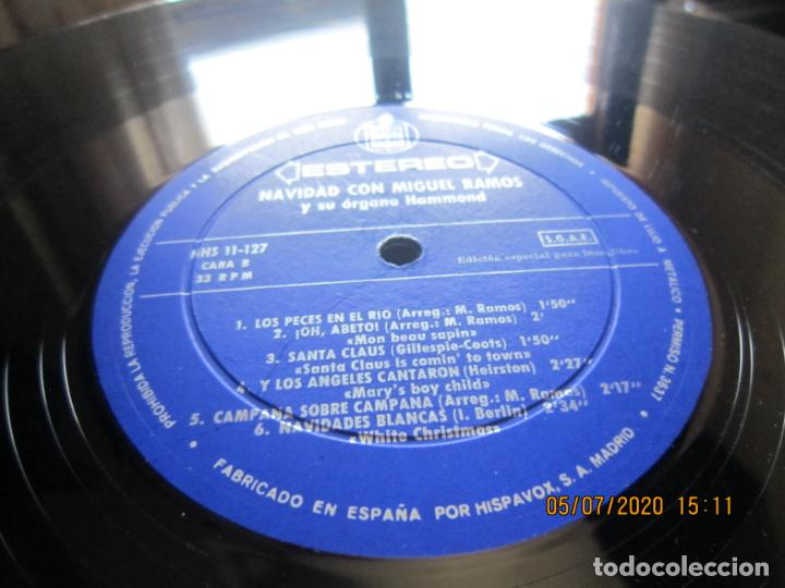 Discos de vinilo: MIGUEL RAMOS Y SU ORGANO HAMMOND - NAVIDAD LP - ESPAÑA - HISPAVOX 1967 STEREO - Foto 12 - 210465935