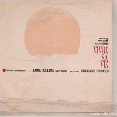 Discos de vinilo: 45 GIRI VIVRE SA VIE MICHEL LEGRAND SINNO ME MORO CARLO RUSTICHELLI LABEL SCRITTA SEVEN SEAS JAPON. Lote 210468646