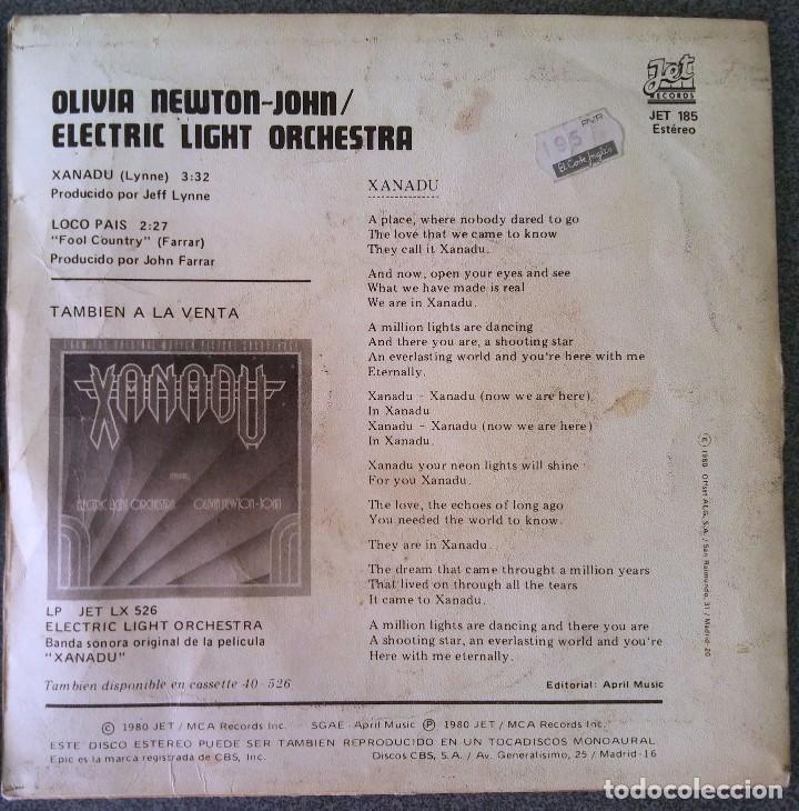 Discos de vinilo: Vinilo Ep Xanadu Olivia Newton John - Foto 3 - 210471155