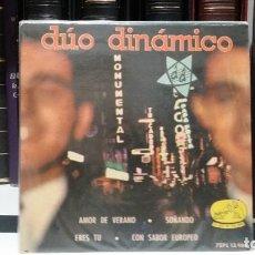 Discos de vinilo: ** DÚO DINÁMICO - AMOR DE VERANO / ERES TU / CON SABOR EUROPEO + 1 - EP AÑO 1963 - LEER DESCRIPCION. Lote 210474645