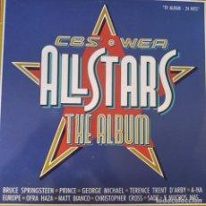 Discos de vinilo: ALL STARS CBS/ WEA- DOBLE LP CON: PRINCE, BRUCE SPRINGSTEEN, SADE, GEORGE MICHAEL, COHEN, EUROPE.... Lote 210541880