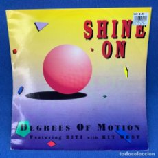 Discos de vinilo: LP DEGREES OF MOTION - FEATURING BITI WITH KIT WEST – SHINE ON - LONDRES - AÑO 1992. Lote 210547638