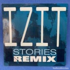 Discos de vinilo: LP IZIT - STORIES REMIX - LONDRES - AÑO 1989. Lote 210548193