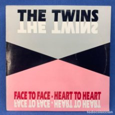 Discos de vinilo: LP THE TWINS - FACE TO FACE - HEART TO HEART - ESPAÑA - AÑO 1992. Lote 210548931