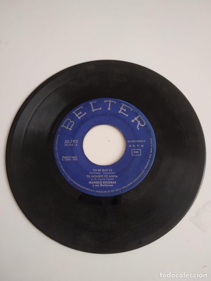 BAL-3 DISCO CHICO 7 PULGADAS SIN CARATULA BELTER YO SE QUE TU (Música - Discos - Singles Vinilo - Otros estilos)