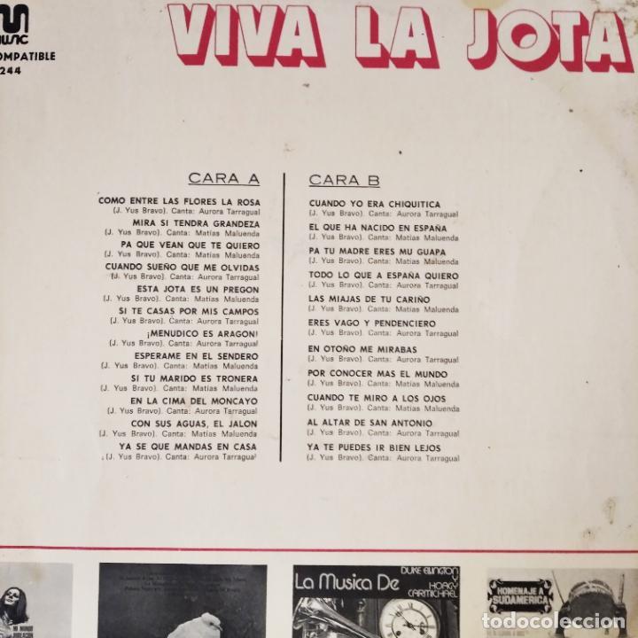 Discos de vinilo: VIVA LA JOTA, - LP 1973- ARAGON - Foto 2 - 210550945