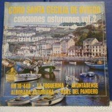 Discos de vinilo: CORO SANTA CECILIA DE OVIEDO. CANCIONES ASTURIANAS VOL. 2. SINGLE HISPAVOX CON 4 CANCIONES: LA FOGUE. Lote 210552295