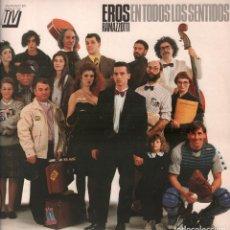 Discos de vinilo: EROS RAMAZZOTT I- EN TODOS LOS SENTIDOS / LP HISPAVOX DE 1990 RF-8000 , BUEN ESTADO. Lote 210555561