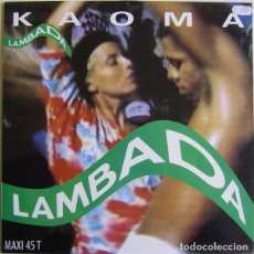 Discos de vinilo: KAOMA - LAMBADA - MAXI-SINGLE SPAIN 1989. Lote 210556320
