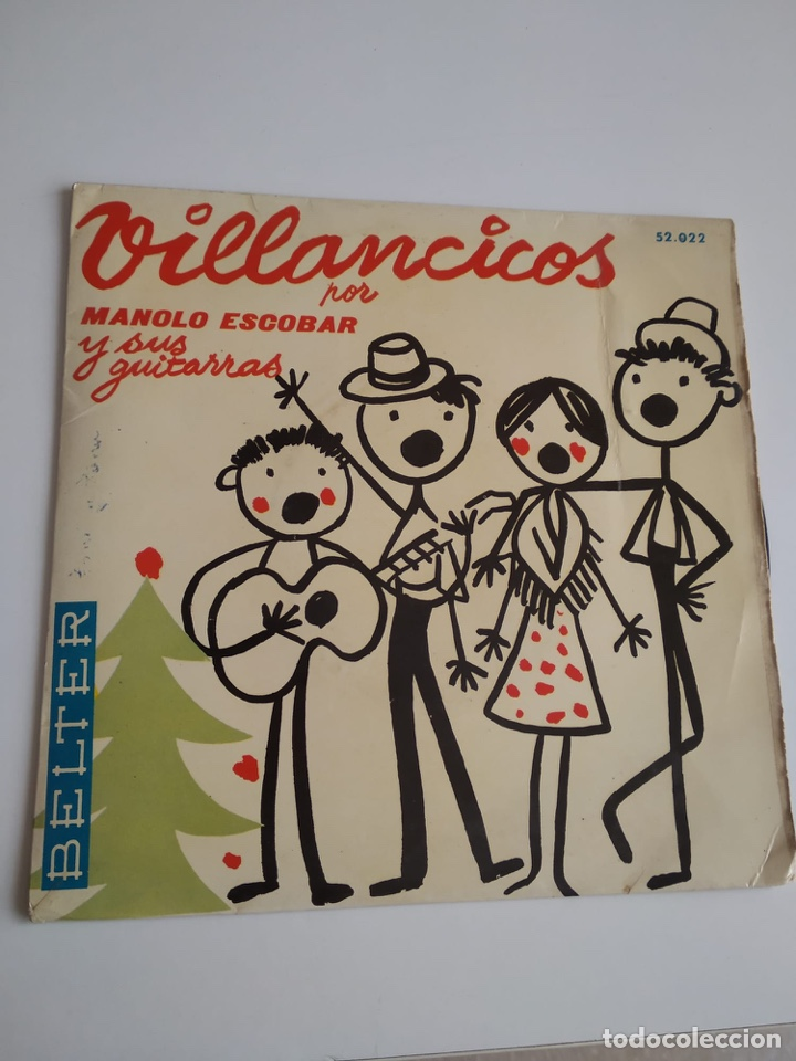 BAL-3 DISCO CHICO 7 PULGADAS VILLANCICOS POR MANOLO ESCOBAR Y SUS GUITARRAS (Música - Discos - Singles Vinilo - Otros estilos)