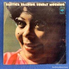 Discos de vinil: SINGLE BERTICE READING - SUNDAY MORNING - ESPAÑA - AÑO 1974. Lote 210560825