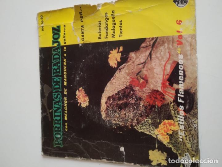 BAL-3 DISCO CHICO 7 PULGADAS PORRINAS DE BADAJOZ CON MELCHOR DE MARCHENA A LA GUITARRA (Música - Discos - Singles Vinilo - Otros estilos)