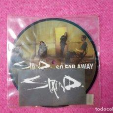Discos de vinilo: SINGLE STAIND - SO FAR AWAY / NOVOCAIN - E7464 - PICTURE DISC UK PRESS (-/NM). Lote 210563386