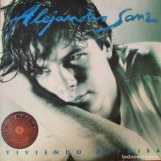 Discos de vinilo: ALEJANDRO SANZ - VIVIENDO DEPRISA - LP 1991. Lote 210567022