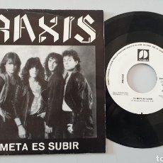 Discos de vinilo: SINGLE PRAXIS - TU META ES SUBIR/+1 (SONODISC, 1988) PROMOCIONAL HEAVY METAL ESPAÑOL RARO!!. Lote 210568641