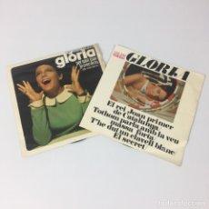 """Discos de vinilo: 2 DISCOS 7"""" - GLÒRIA - PER SANT JOAN + EL REI JOAN PRIMER DE CATALUNYA (EDIGSA 1968). Lote 208028745"""