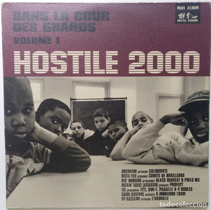 "HOSTILE 2000 VOL.1 - DANS LA COUR DES [FRANCIA HIP HOP / RAP] [EDICIÓN ORIGINAL EP 12"" 33RPM] [1999] (Música - Discos de Vinilo - EPs - Rap / Hip Hop)"