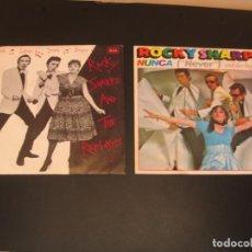 Discos de vinilo: ROCKY SHARPE & THE REPLAYS LOTE 2 SINGLES RAMA LAMA DING DONG & NEVER ESPAÑA 1979. Lote 210578566