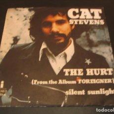 Discos de vinilo: CAT STEVENS SINGLE 45 RPM THE HURT ISLAND ESPAÑA 1973. Lote 210578915
