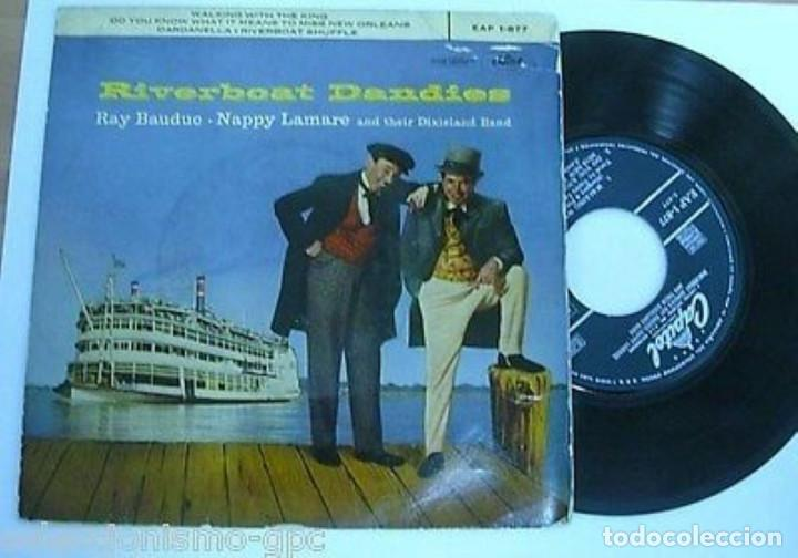 "Discos de vinilo: RIVERBOAT DANDIES 7"" SPAIN EP 45 SINGLE VINILO 1958 RAY BAUDUC NAPPY LAMARE CON DIXIELAND BAND JAZZ - Foto 1 - 210579681"