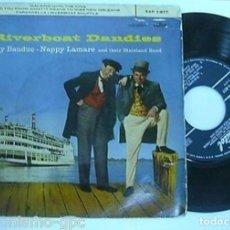 """Discos de vinilo: RIVERBOAT DANDIES 7"""" SPAIN EP 45 SINGLE VINILO 1958 RAY BAUDUC NAPPY LAMARE CON DIXIELAND BAND JAZZ. Lote 210579681"""