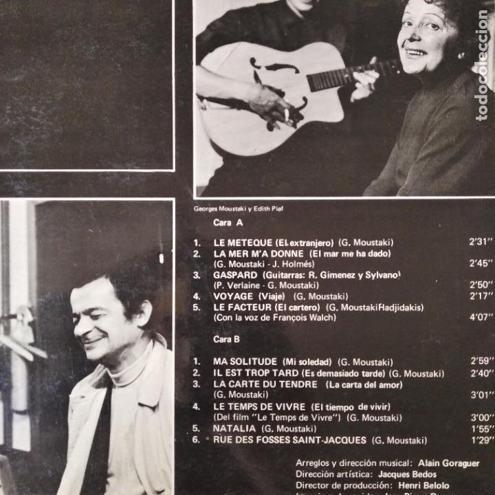 Discos de vinilo: GEORGES MOUSTAKI - LP - Foto 2 - 210582997