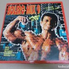 Discos de vinilo: QUIQUE TEJADA (LP) BOLERO MIX 9 AÑO – 1992 – DOBLE DISCO PORTADA ABIERTA. Lote 210584446