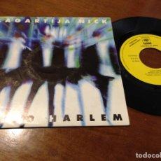 Discos de vinilo: LAGARTIJA NICK SG CBS 1993 PROMO NUEVO HARLEM (SOLO CARA A) PROMOCIONAL RADIO. Lote 210592818