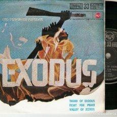 """Discos de vinilo: ERNEST GOLD Y SU ORQUESTA 7"""" SPAIN EP 45 EXODUS SINGLE VINILO 1961 BANDA SONORA ORIGINAL PELICULA. Lote 210597175"""