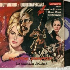 """Discos de vinilo: RUDY VENTURA Y ORQUESTA 7"""" SPAIN EP 45 DOCTOR ZHIVAGO TEMA D LARA SINGLE VINILO ´66 BANDA SONORA BSO. Lote 210599251"""