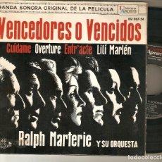 "Discos de vinilo: RALPH MARTERIE Y ORQUESTA 7"" SPAIN EP 45 VENCEDORES O VENCIDOS SINGLE VINILO 1962 BANDA SONORA BSO. Lote 210603350"