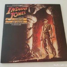 Discos de vinilo: INDIANA JONES AND THE TEMPLE OF DOOM - LP. Lote 210608983