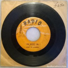 Discos de vinilo: BOBBY LEE TRAMMELL. YOU MOSTEST GIRL/ UH OH. RADIO, USA 1958 SINGLE. Lote 210615467