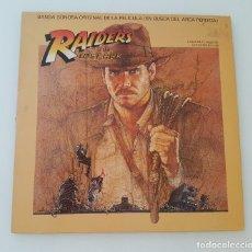 Discos de vinilo: RAIDERS OF THE LOST ARK -EN BUSCA DEL ARCA PERDIDA LP. Lote 210615532