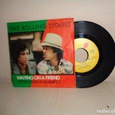 Discos de vinilo: THE ROLLING STONES - WAITING ON FRIEND -LITTLE T-A- 1981- ODEON- BCN. Lote 210621871
